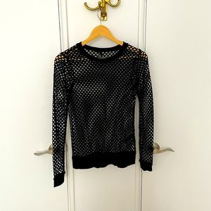 Long sleeve top cover up
